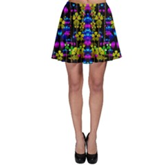 Flowers In The Most Beautiful  Dark Skater Skirt by pepitasart