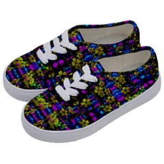 Flowers In The Most Beautiful  Dark Kids  Classic Low Top Sneakers by pepitasart