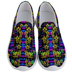 Flowers In The Most Beautiful  Dark Men s Lightweight Slip Ons by pepitasart