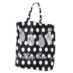 Easter Eggs Giant Grocery Zipper Tote