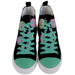 Easter Eggs Women s Mid Top Canvas Sneakers