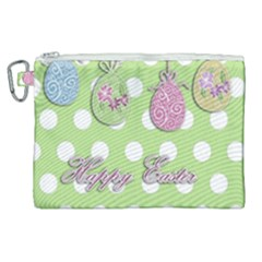 Easter Eggs Canvas Cosmetic Bag (xl) by Valentinaart