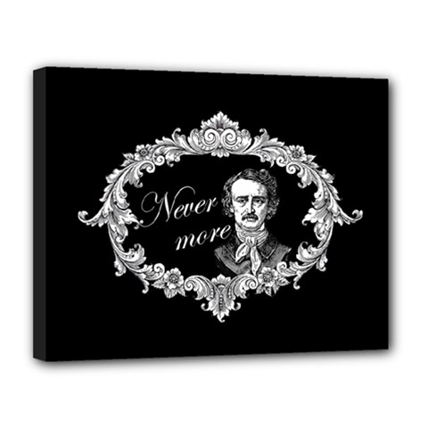 Edgar Allan Poe    Never More Canvas 14  X 11