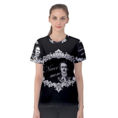 Edgar Allan Poe    Never More Women s Sport Mesh Tee