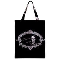 Edgar Allan Poe    Never More Zipper Classic Tote Bag by Valentinaart