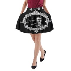 Edgar Allan Poe    Never More A Line Pocket Skirt by Valentinaart