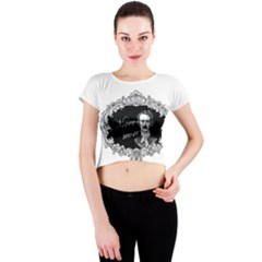 Edgar Allan Poe    Never More Crew Neck Crop Top
