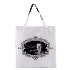 Edgar Allan Poe    Never More Grocery Tote Bag by Valentinaart