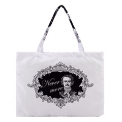 Edgar Allan Poe    Never More Medium Tote Bag by Valentinaart