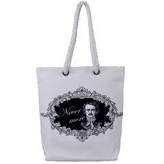 Edgar Allan Poe    Never More Full Print Rope Handle Tote (small) by Valentinaart