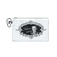 Edgar Allan Poe    Never More Canvas Cosmetic Bag (small) by Valentinaart