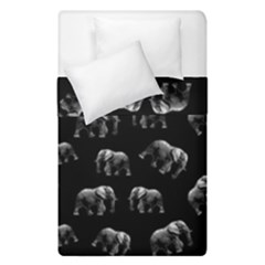 Elephant Pattern Duvet Cover Double Side (single Size)
