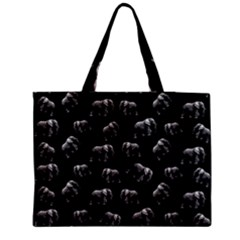 Elephant Pattern Zipper Medium Tote Bag by Valentinaart
