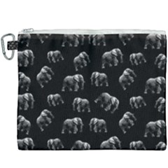 Elephant Pattern Canvas Cosmetic Bag (xxxl) by Valentinaart