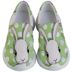 Easter Bunny  Kid s Lightweight Slip Ons by Valentinaart