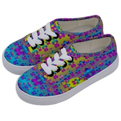 Flowers In The Most Beautiful Sunshine Kids  Classic Low Top Sneakers by pepitasart