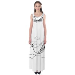 Bird Empire Waist Maxi Dress