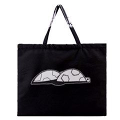 Turtle Zipper Large Tote Bag