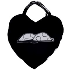 Turtle Giant Heart Shaped Tote