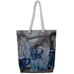 The Nobodies Full Print Rope Handle Tote (small) by redmaidenart