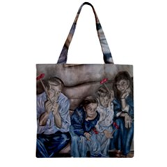 The Nobodies Zipper Grocery Tote Bag by redmaidenart
