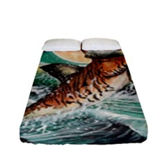 Tiger Shark Fitted Sheet (full/ Double Size) by redmaidenart