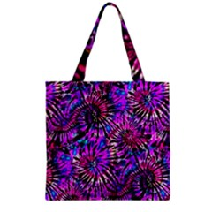 Purple Tie Dye Madness  Grocery Tote Bag by KirstenStar