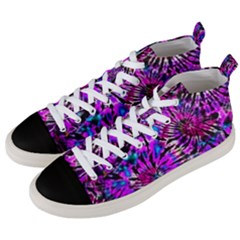 Purple Tie Dye Madness  Men s Mid Top Canvas Sneakers by KirstenStar