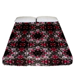 Oriental Ornate Pattern Fitted Sheet (queen Size) by dflcprints