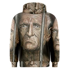 Old Man Imprisoned Men s Overhead Hoodie by redmaidenart