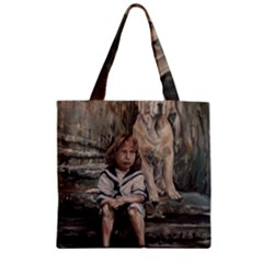 An Old Friend Zipper Grocery Tote Bag by redmaidenart