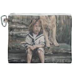 An Old Friend Canvas Cosmetic Bag (xxl) by redmaidenart