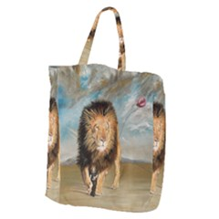The Journey Giant Grocery Zipper Tote by redmaidenart