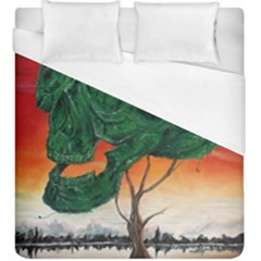 Skull Hedge Duvet Cover (king Size) by redmaidenart