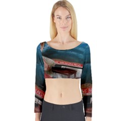 Breaking News Long Sleeve Crop Top by redmaidenart