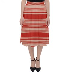 Abstract Linear Minimal Pattern Folding Skater Skirt by dflcprints