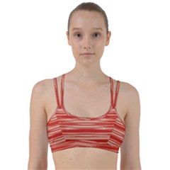 Abstract Linear Minimal Pattern Line Them Up Sports Bra by dflcprints