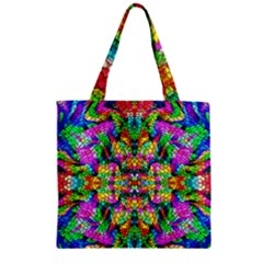 Pattern 854 Zipper Grocery Tote Bag by ArtworkByPatrick