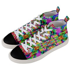 Pattern 854 Men s Mid Top Canvas Sneakers by ArtworkByPatrick