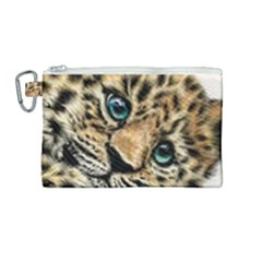 Jaguar Cub Canvas Cosmetic Bag (medium)