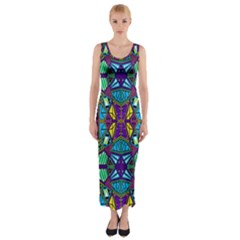 P 841 Fitted Maxi Dress by ArtworkByPatrick