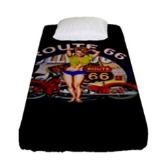 Route 66 Fitted Sheet (single Size) by ArtworkByPatrick