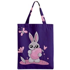 Easter Bunny  Zipper Classic Tote Bag by Valentinaart