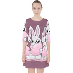 Easter Bunny  Pocket Dress by Valentinaart