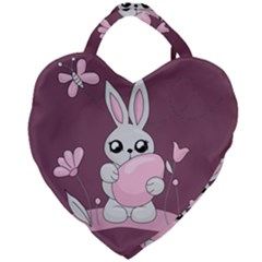Easter Bunny  Giant Heart Shaped Tote by Valentinaart