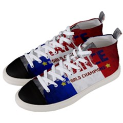Football World Cup Men s Mid Top Canvas Sneakers by Valentinaart