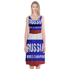 Football World Cup Midi Sleeveless Dress by Valentinaart