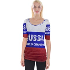 Football World Cup Wide Neckline Tee