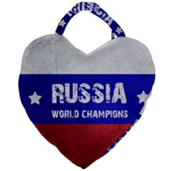 Football World Cup Giant Heart Shaped Tote by Valentinaart