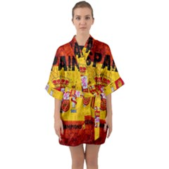 Football World Cup Quarter Sleeve Kimono Robe by Valentinaart